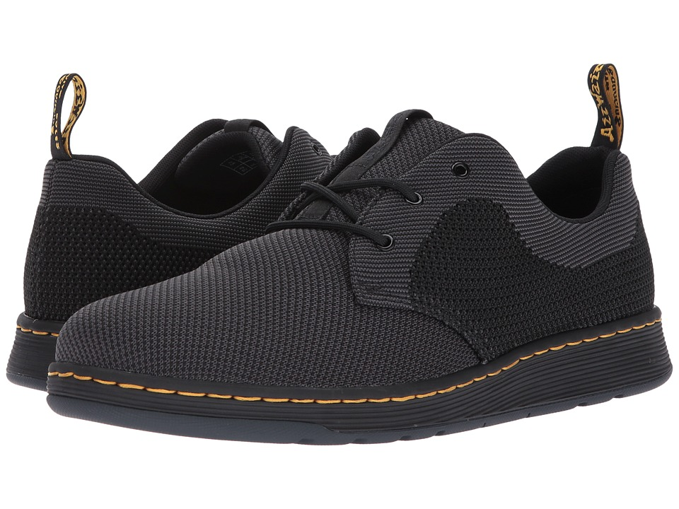 Dr. Martens Cavendish Knit 3-Eye Shoe (Black/Anthracite + Black Knit) Shoes