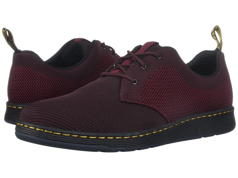 Dr. Martens Cavendish Knit 3-Eye Shoe (Oxblood/Black + Oxblood Knit) Shoes