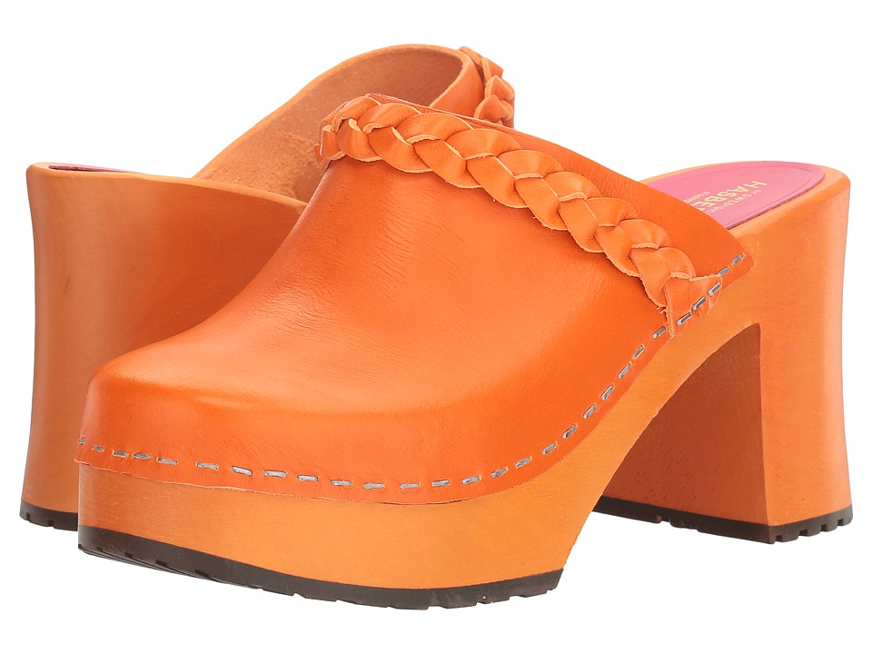 Swedish Hasbeens - Laila (Orange/Orange) Women's Clog Shoes