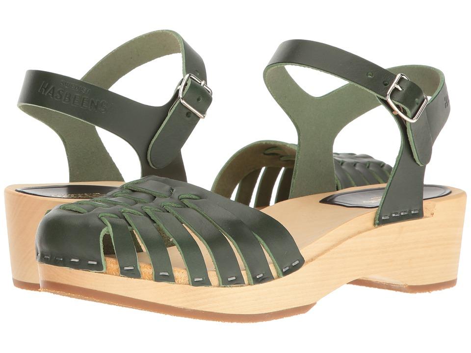 Swedish Hasbeens - Snake Debutant (Deep Green) Women's Shoes