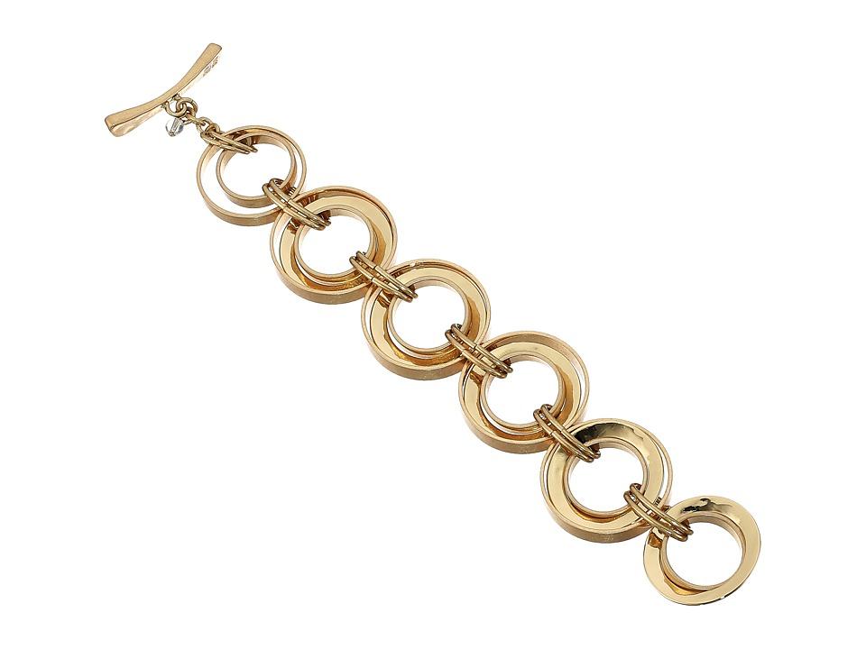 Robert Lee Morris - Link Flex Bracelet (Gold) Bracelet