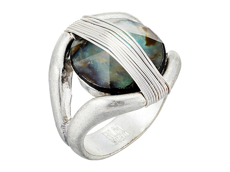 Robert Lee Morris - Two-Tone Wire Stone Ring (Abalone) Ring