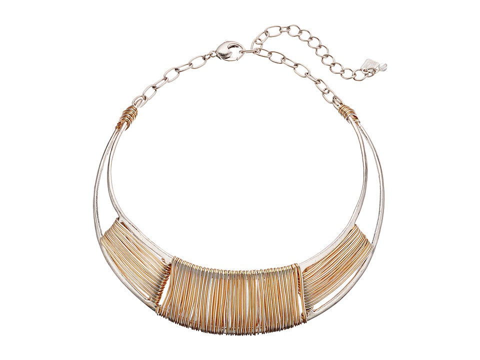 Robert Lee Morris - Two-Tone Wire Wrap Collar Necklace (Two-Tone) Necklace