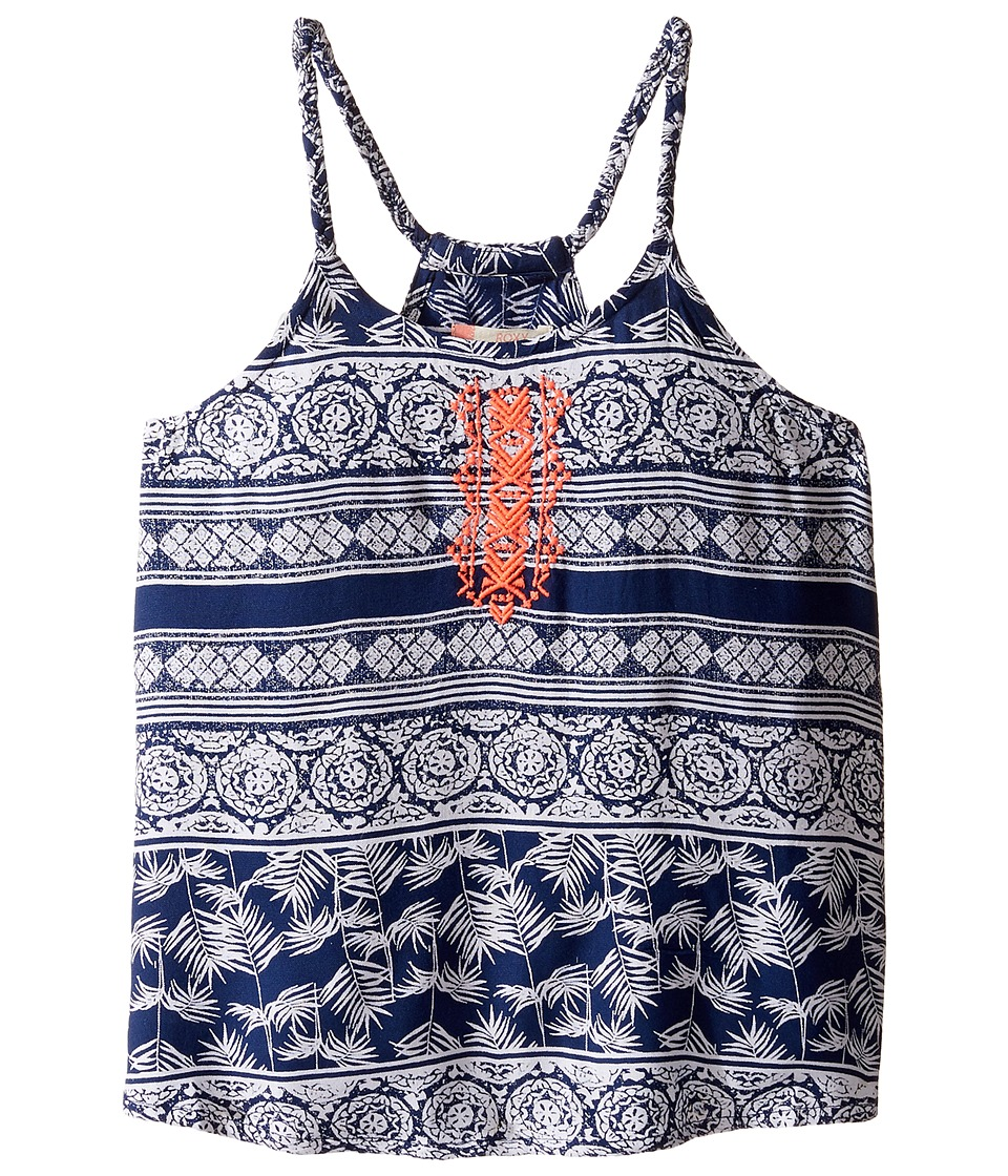 Roxy Kids - Lost Our Way Tank Top (Big Kids) (Blue Depths/Tropic Wax) Girl's Sleeveless
