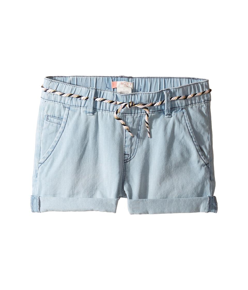 Roxy Kids - Just a Habit Shorts (Big Kids) (Light Blue) Girl's Shorts