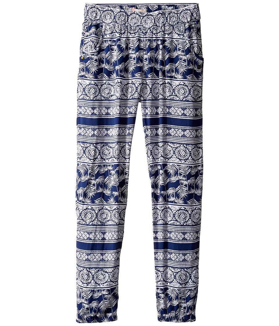 Roxy Kids - Wanna Go Holiday Pants (Big Kids) (Blue Depths/Tropic Wax) Girl's Casual Pants