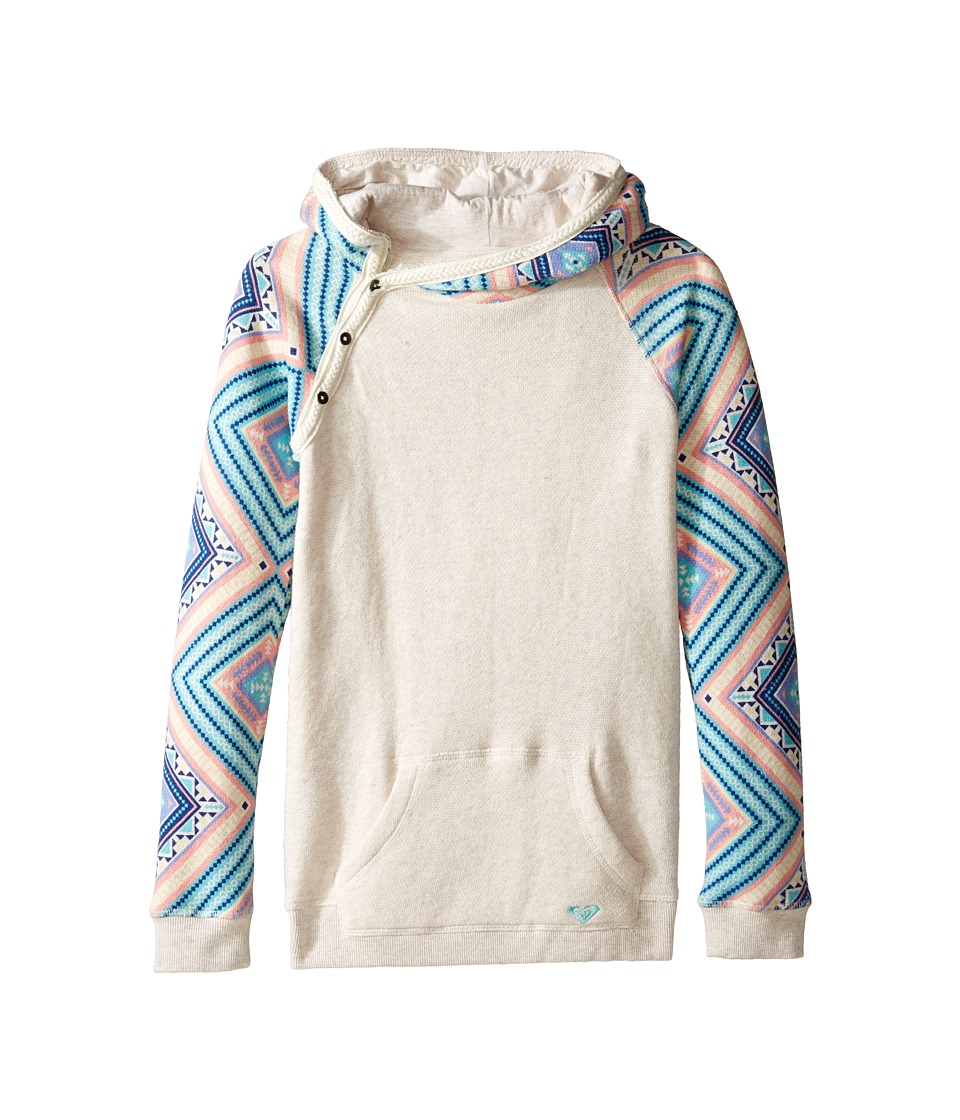 Roxy Kids - Close to You Free Spirit Hoodie (Big Kids) (Metro Heather/Free Spirit) Girl's Sweatshirt