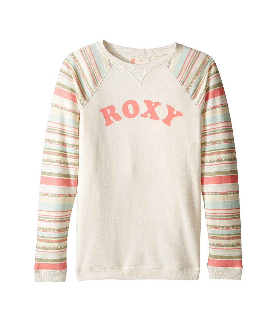 Roxy Kids - Kaukura Fleece (Big Kids) (Beach Glass/Sombrero Stripe) Girl's Fleece