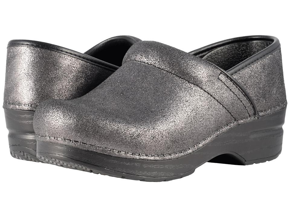 Dansko Professional (Black Metallic Suede) Clog Shoes