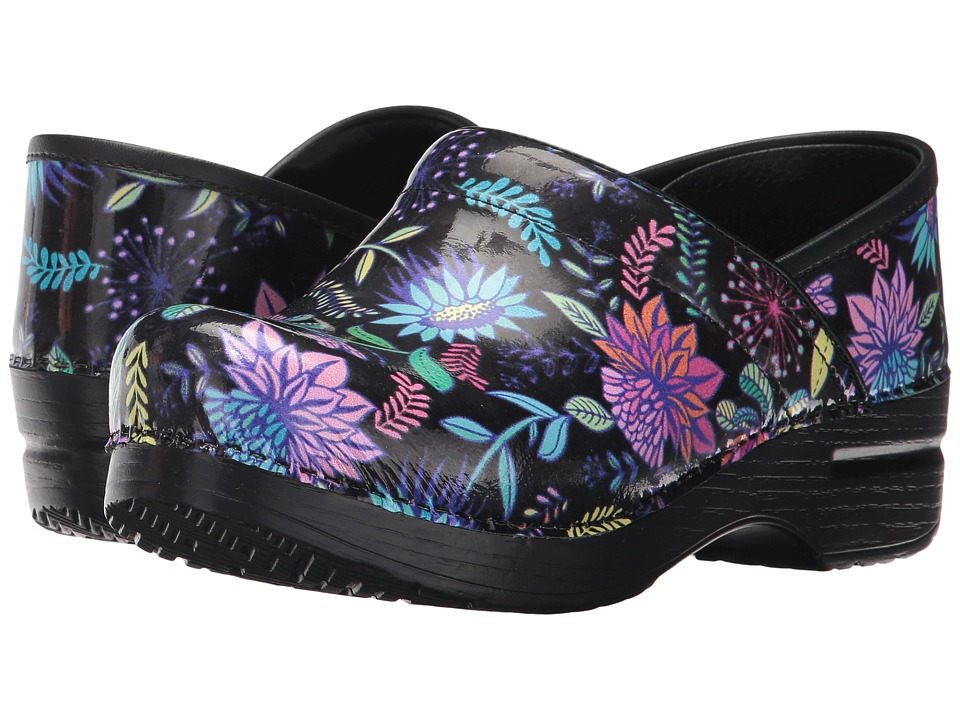 Dansko - Professional (Wildflower Patent) Women's Clog Shoes