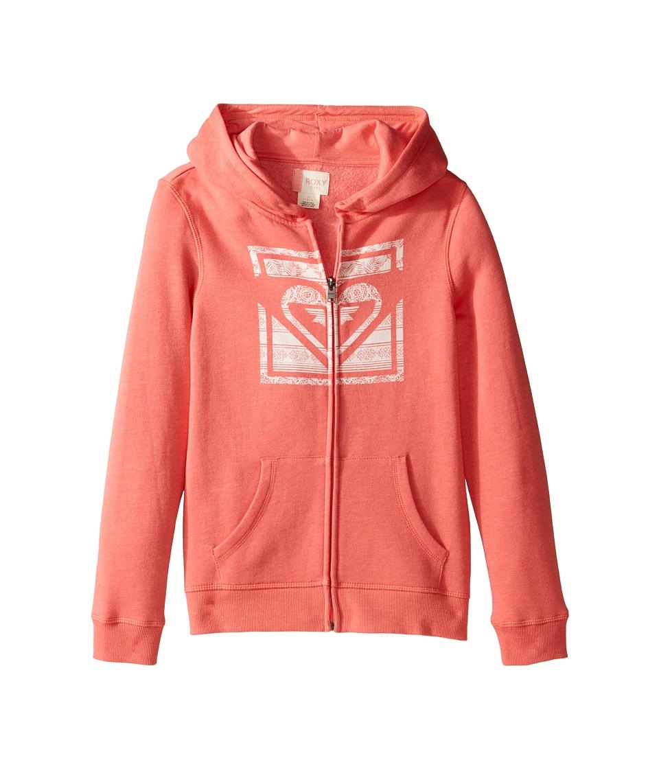 Roxy Kids - Tatakoto Hoodie (Big Kids) (Sugar Coral) Girl's Sweatshirt