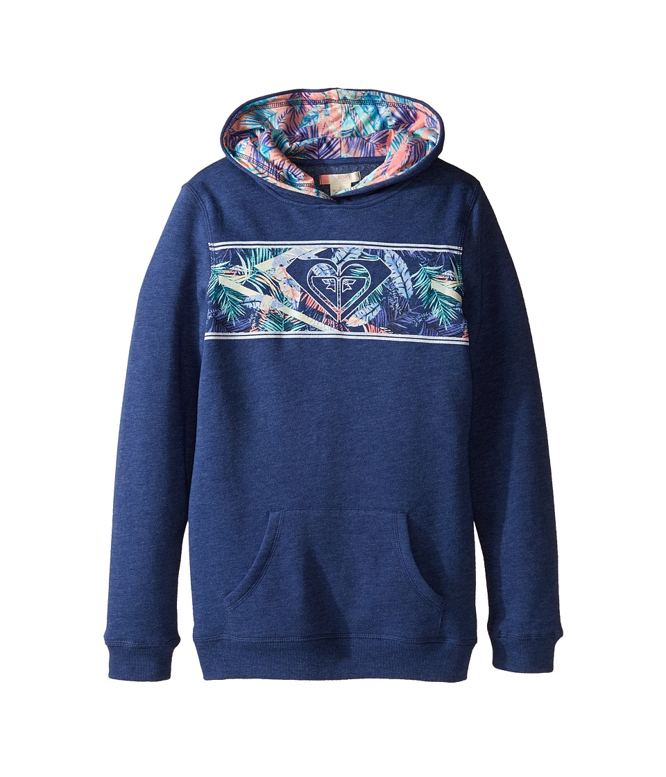 Roxy Kids - The Journey Ending Hoodie (Big Kids) (Blue Depths) Girl's Sweatshirt
