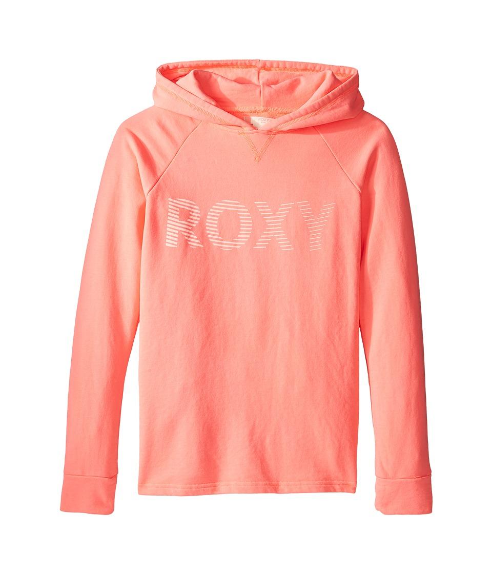 Roxy Kids - Ukulele Player Roxy Move Hoodie (Big Kids) (Neon Grapefruit) Girl's Sweatshirt