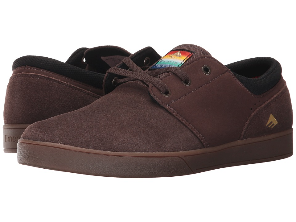 Emerica - The Figueroa (Brown/Gum/Gold) Men's Skate Shoes