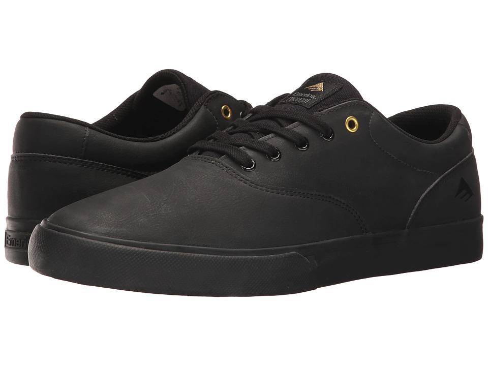 Emerica - The Provost Slim Vulc (Black/Gold) Men's Skate Shoes