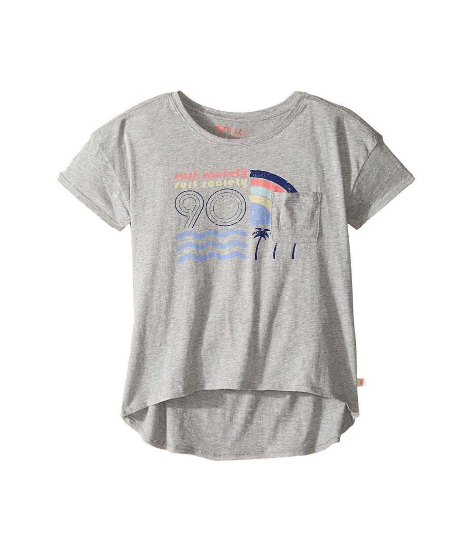 Roxy Kids - Scented Candles Surf Society Tee (Big Kids) (Heritage Heather) Girl's T Shirt