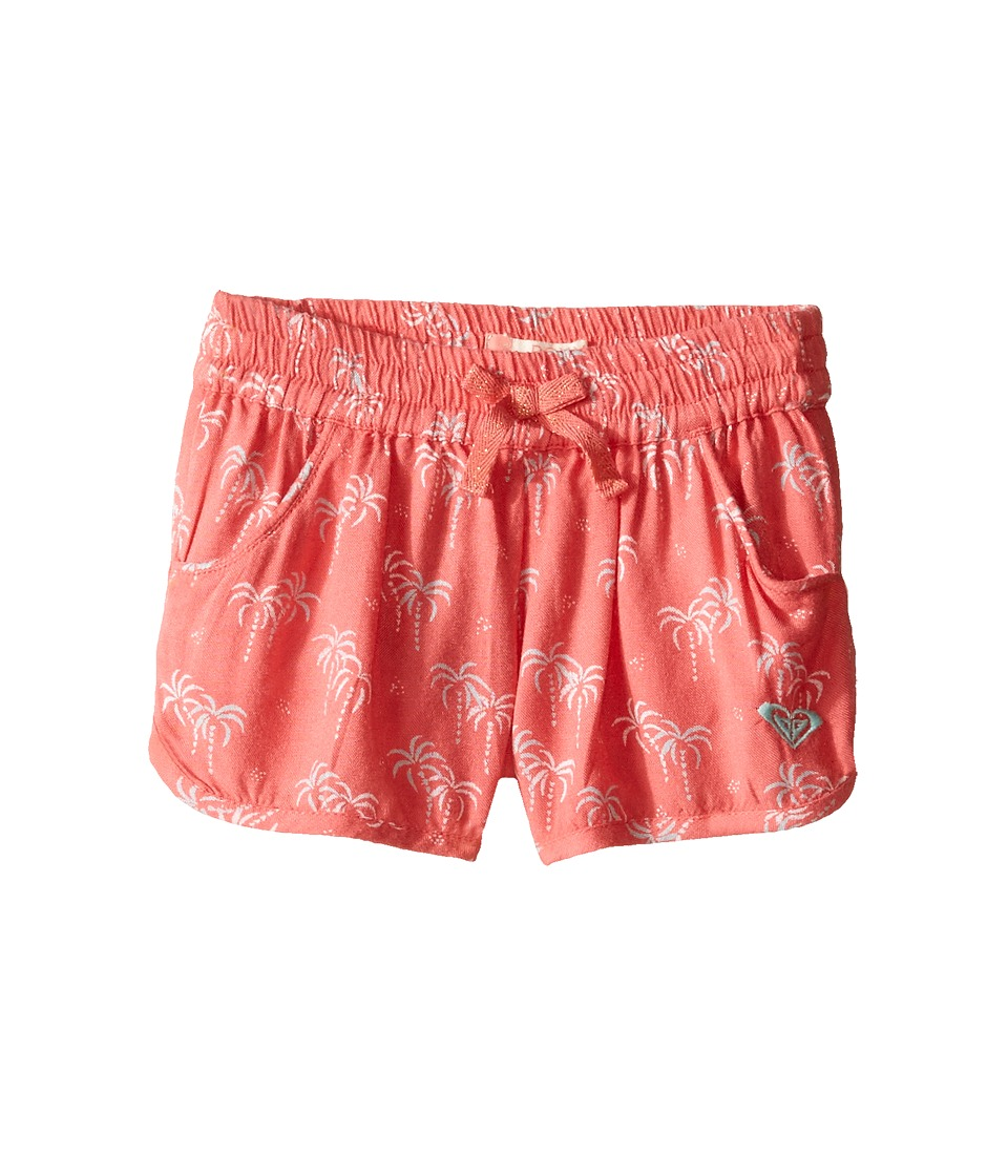 Roxy Kids - Meet Me in the City Shorts (Toddler/Little Kids/Big Kids) (Sugar Coral/Palm Tiny) Girl's Shorts