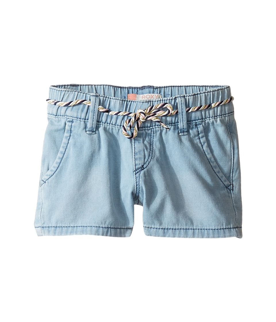 Roxy Kids - Breathlessness Shorts (Toddler/Little Kids/Big Kids) (Light Blue) Girl's Shorts