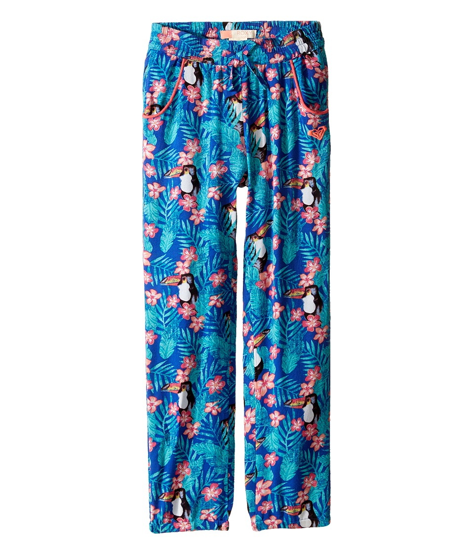 Roxy Kids - Not Homeloving Pants (Toddler/Little Kids/Big Kids) (Royal Blue/Toucan Tango) Girl's Casual Pants