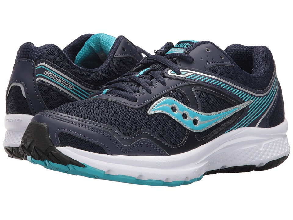 Saucony - Cohesion 10 (Navy/Blue/Silver) Women's Shoes