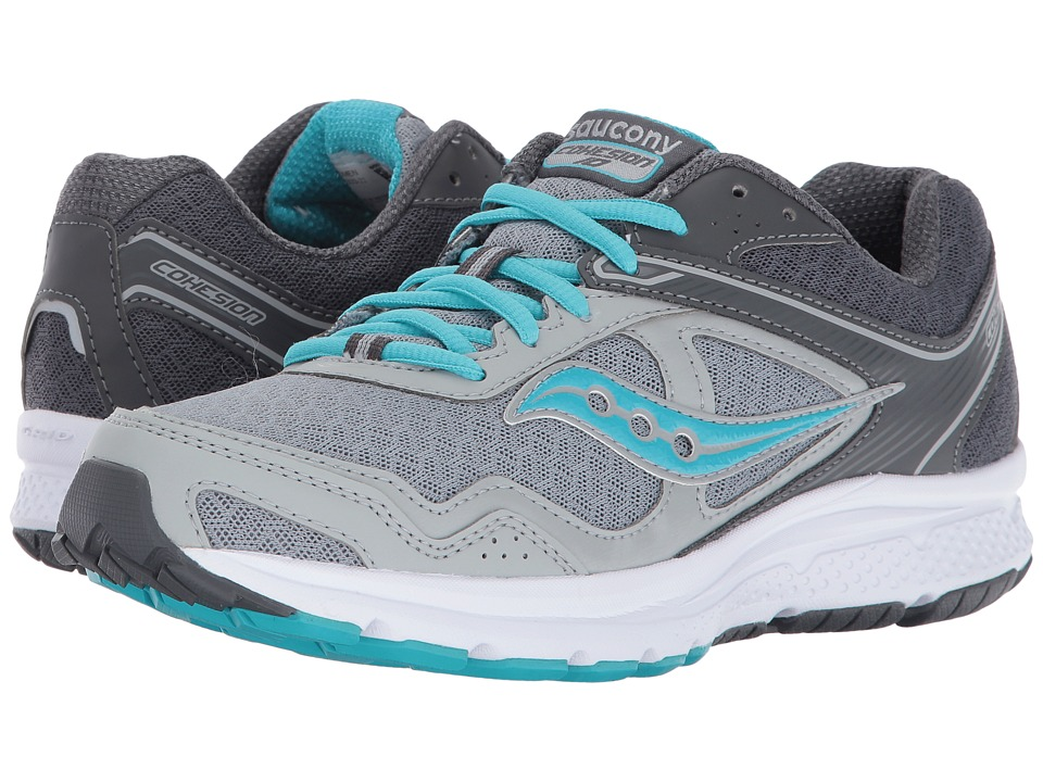Saucony - Cohesion 10 (Grey/Blue) Women's Shoes