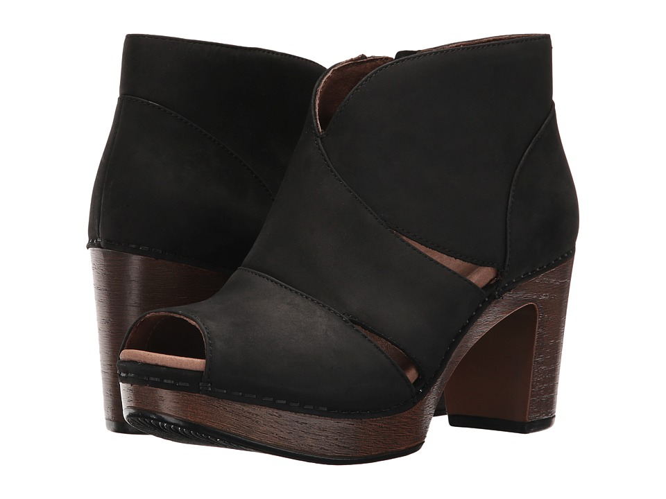 Dansko Delphina (Black Milled Nubuck) High Heels