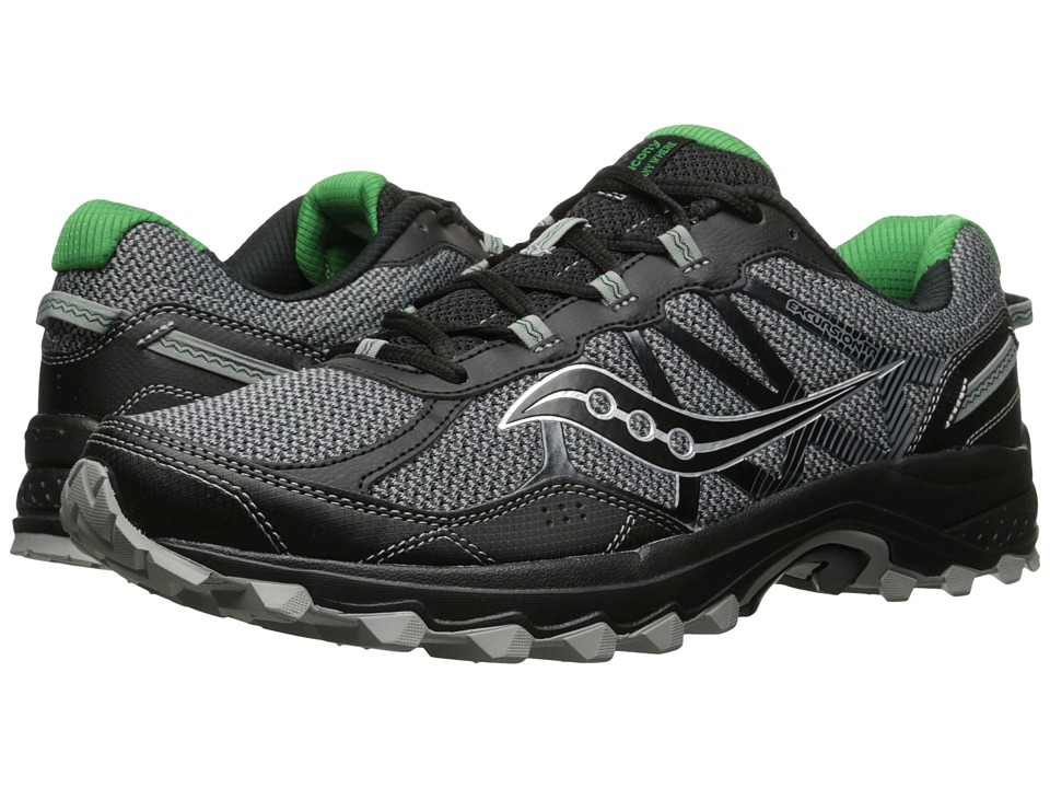 Saucony - Excursion TR11 (Grey/Black/Green) Men's Running Shoes