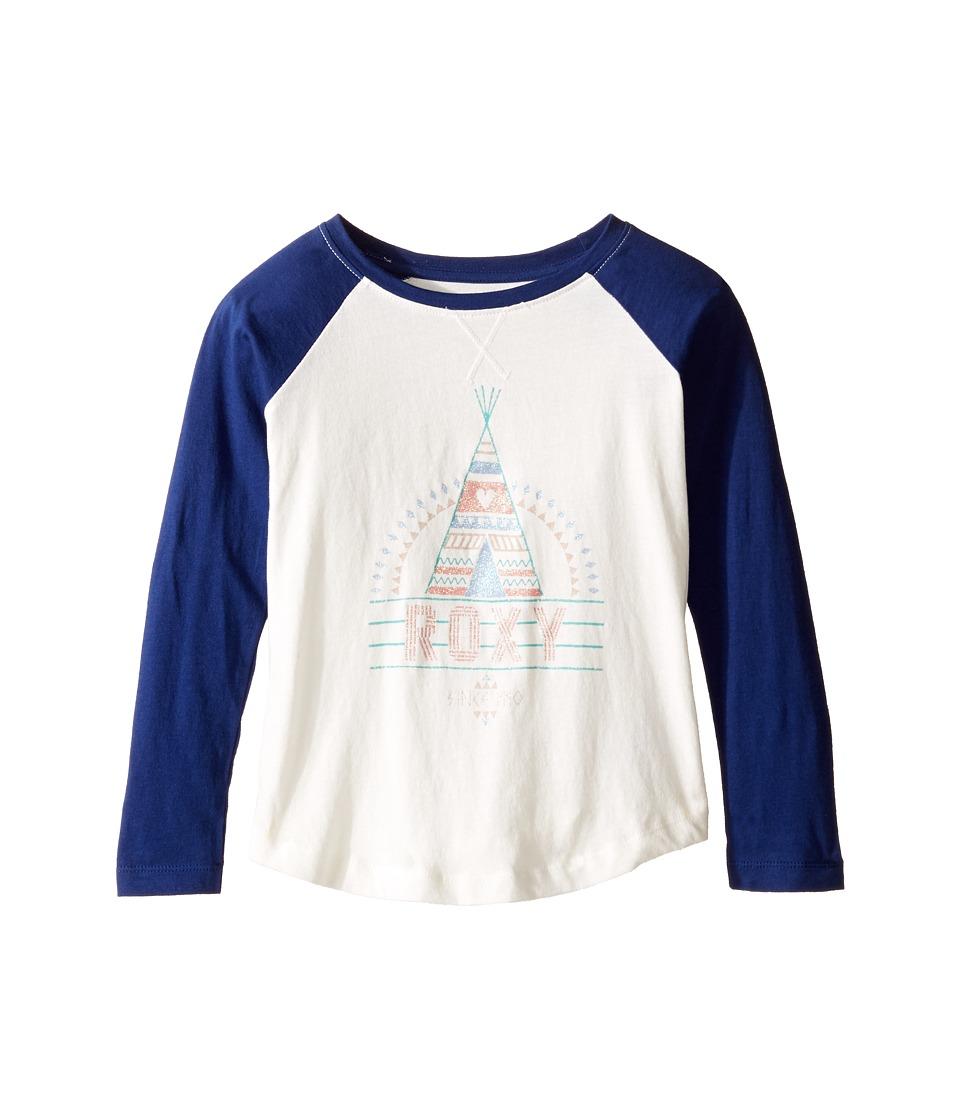 Roxy Kids - Dry the Rain Tee (Toddler/Little Kids/Big Kids) (Blue Depths) Girl's T Shirt