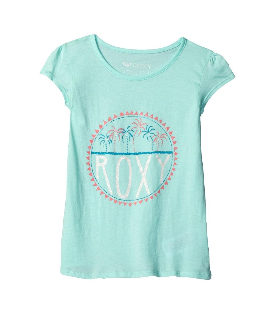 Roxy Kids - Moid Palm Tiny Tee (Toddler/Little Kids/Big Kids) (Beach Glass) Girl's T Shirt