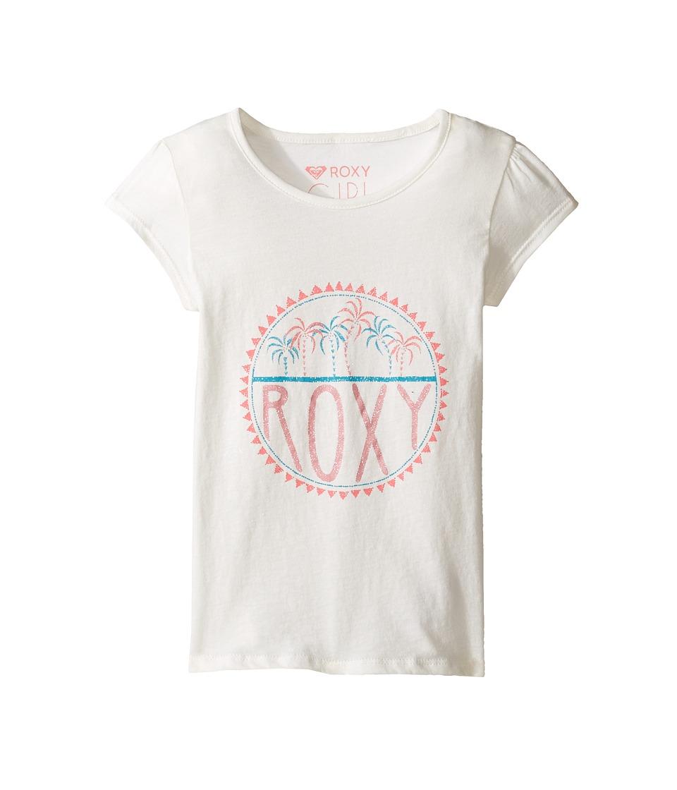 Roxy Kids - Moid Palm Tiny Tee (Toddler/Little Kids/Big Kids) (Marshmallow) Girl's T Shirt