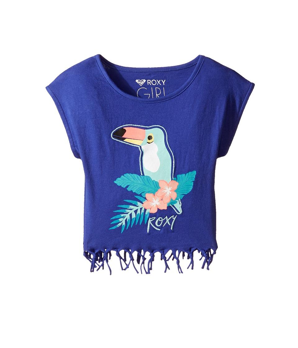 Roxy Kids - Whispers Under the Rain Tee (Toddler/Little Kids/Big Kids) (Royal Blue) Girl's T Shirt