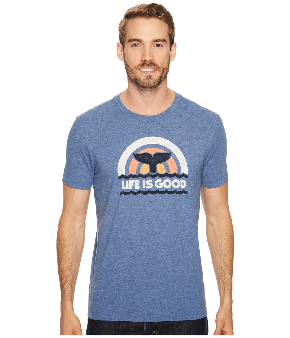 Life is Good - Whales Tail Life is Good(r) Cool Tee (Vintage Blue) Men's Short Sleeve Pullover