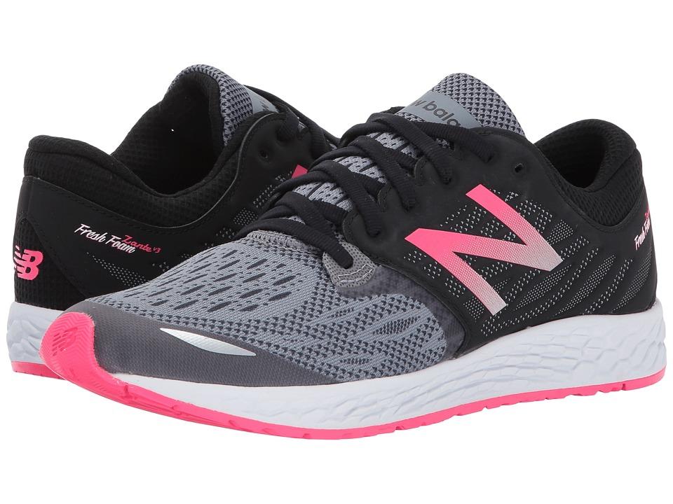 New Balance Kids Fresh Foam Zante v3 (Big Kid) (Black/Pink) Girls Shoes