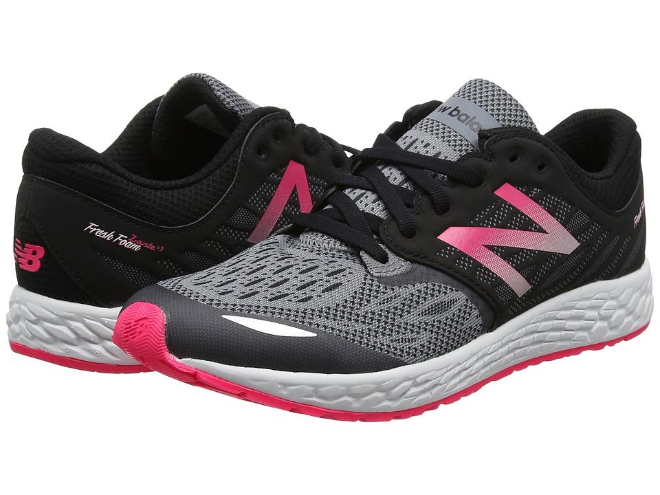 New Balance Kids Fresh Foam Zante v3 (Little Kid) (Black/Pink) Girls Shoes