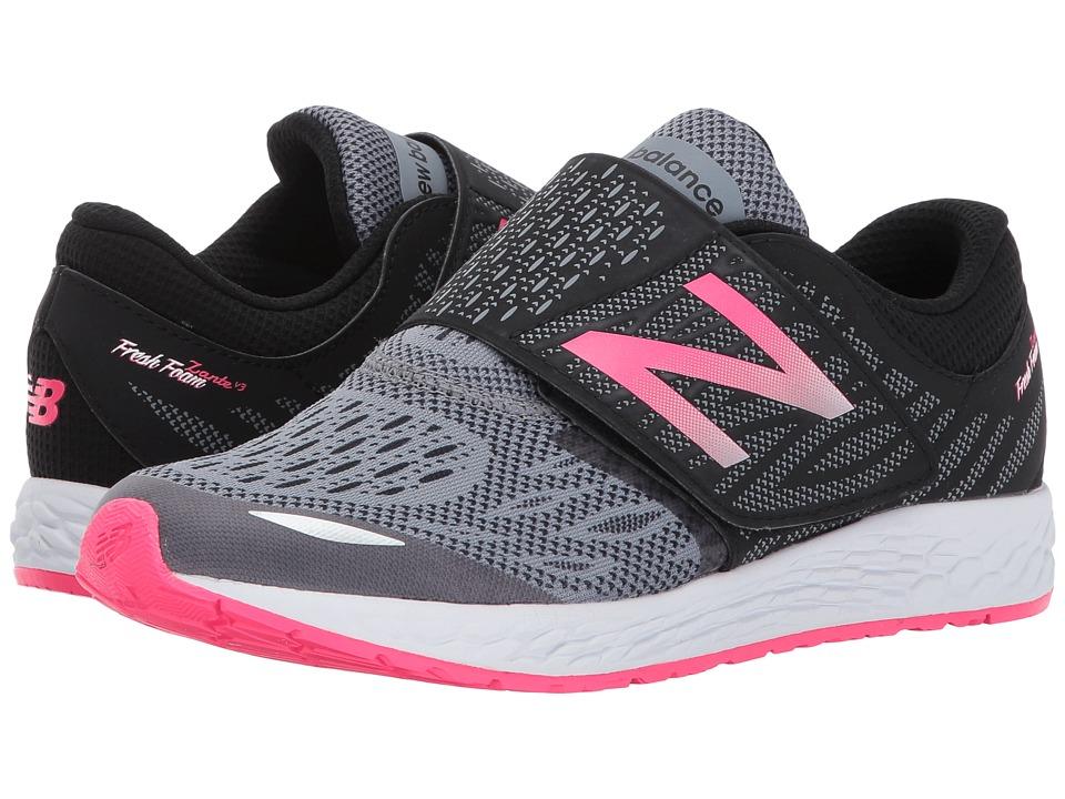 New Balance Kids Fresh Foam Zante v3 (Little Kid/Big Kid) (Black/Pink) Girls Shoes
