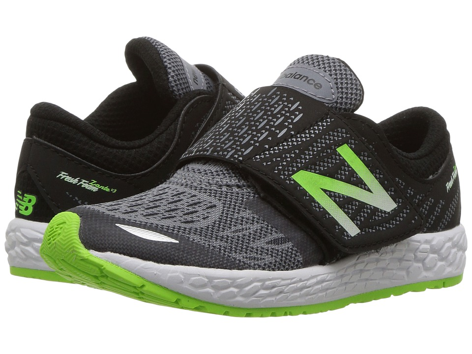New Balance Kids Fresh Foam Zante v3 (Infant/Toddler) (Black/Green) Boys Shoes