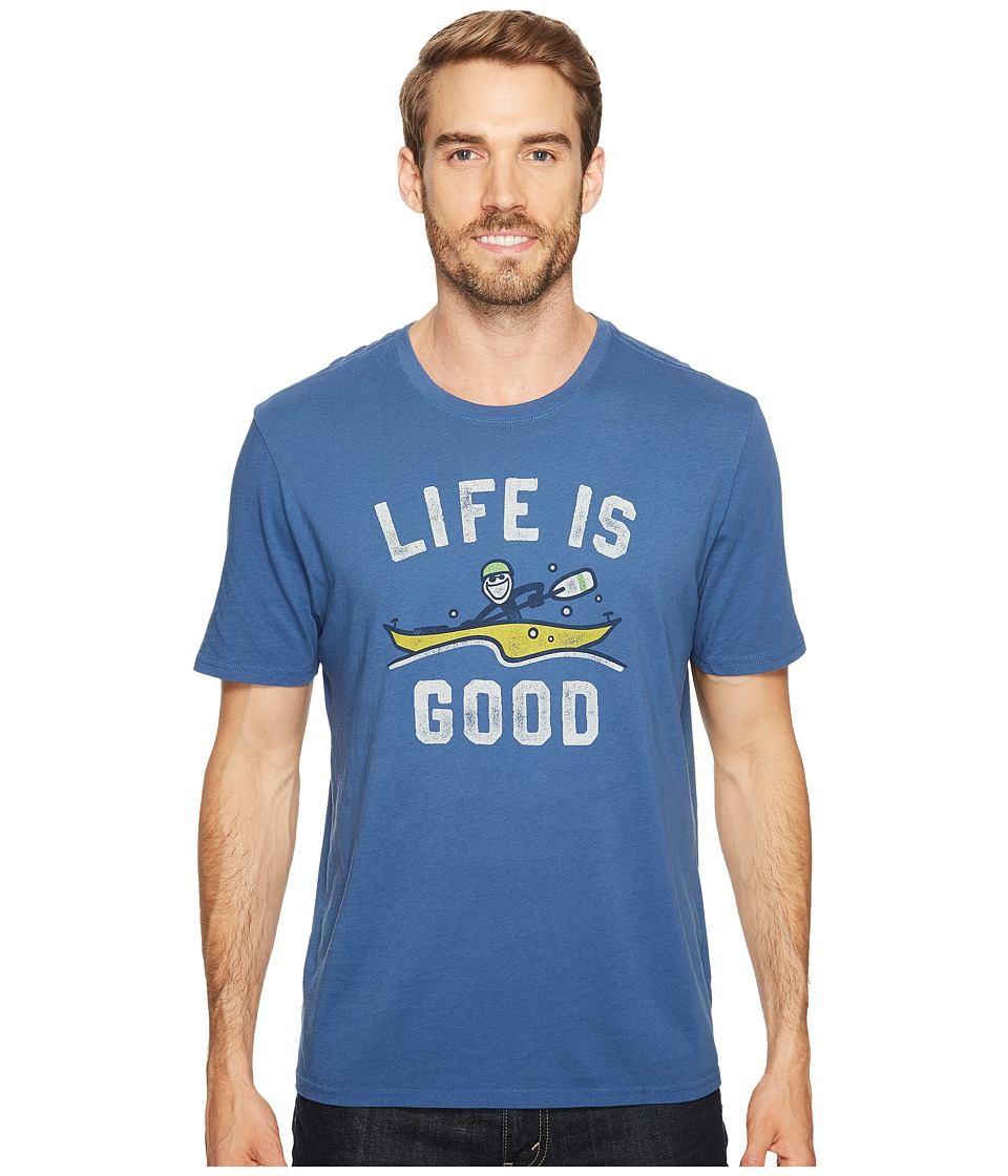 Life is Good - Kayak Life Is Good(r) Smooth Tee (Vintage Blue) Men's Short Sleeve Pullover