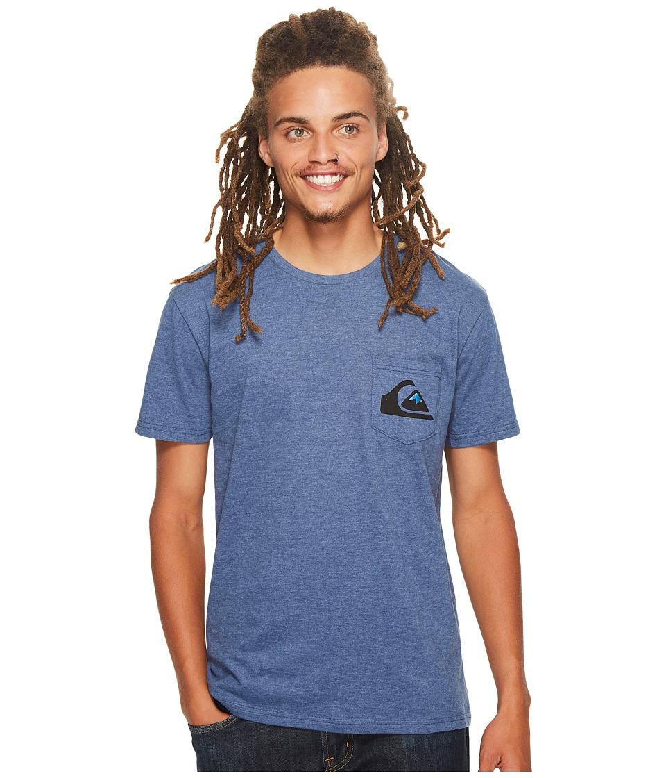 Quiksilver - Distortion Tee (Dark Denim Heather) Men's T Shirt