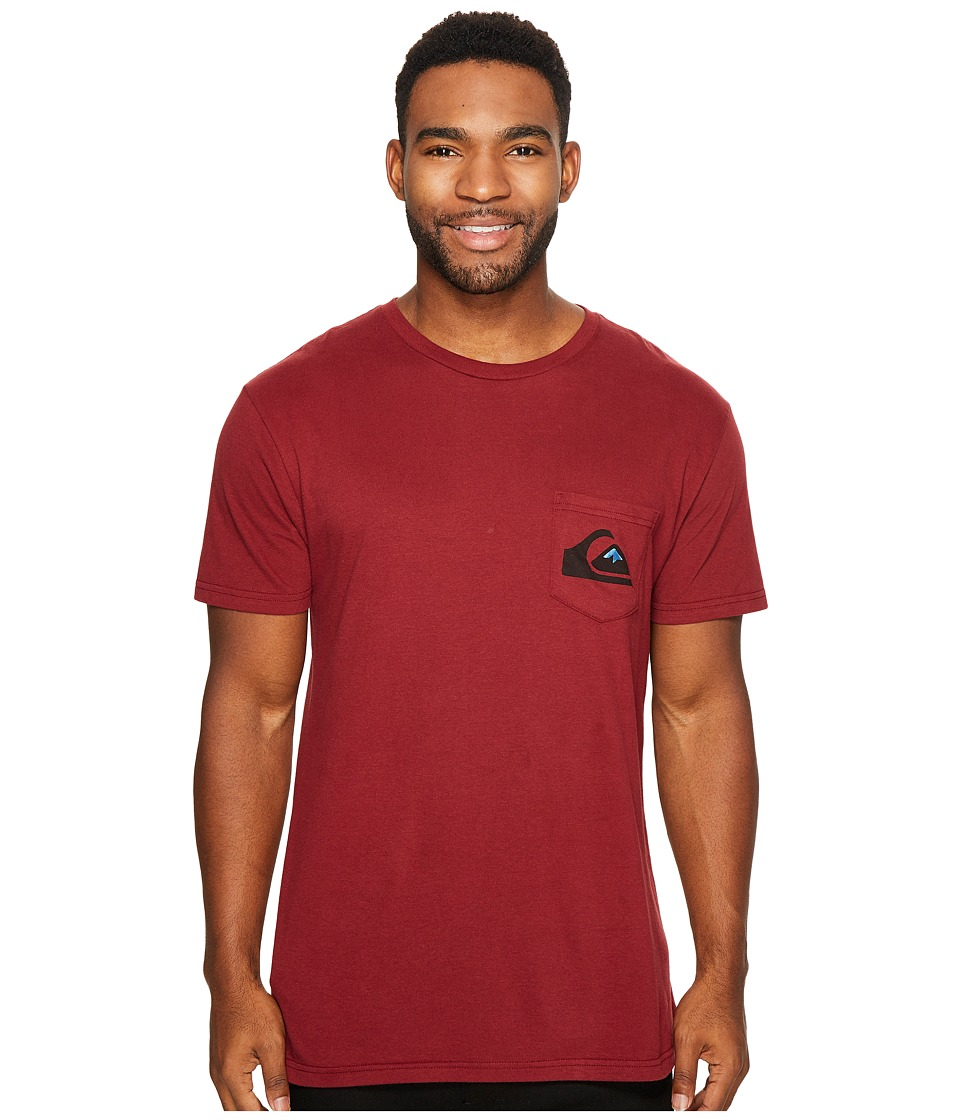 Quiksilver - Distortion Tee (Pomegranate) Men's T Shirt