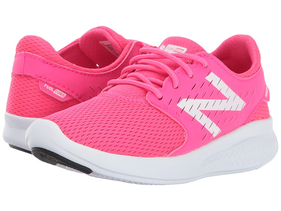 New Balance Kids FuelCore Coast v3 (Little Kid/Big Kid) (Pink/White) Girls Shoes