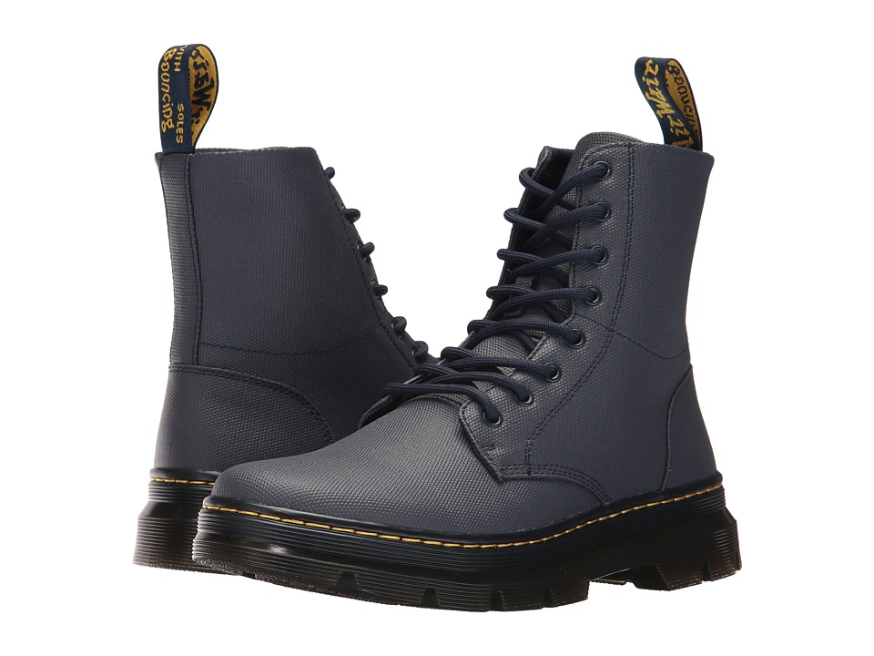 Dr. Martens Combs 8-Eye Boot (Indigo Waxy Coated) Lace-up Boots