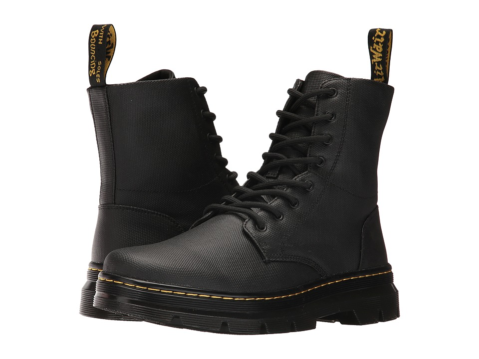 Dr. Martens Combs 8-Eye Boot (Black Waxy Coated) Lace-up Boots
