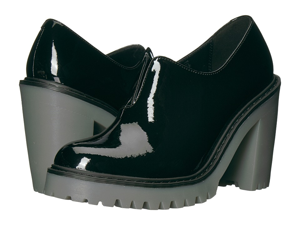 Dr. Martens Cordelia Gusset Slip-On Shoe (Black Patent Lamper) Women