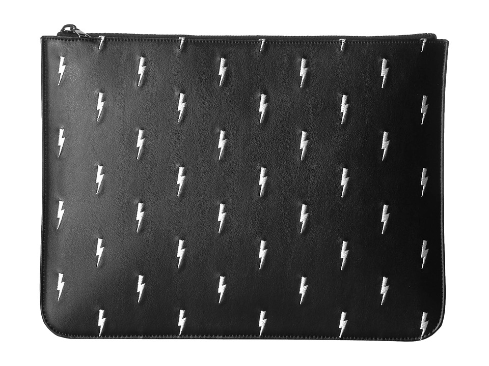 Neil Barrett - Thunderbolt Large Portfolio (Black/White) Bags