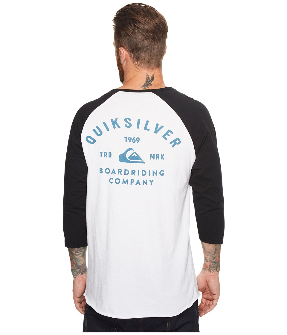 Quiksilver - Archer Raglan (White) Men's T Shirt
