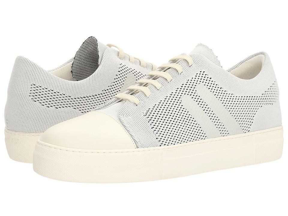 Neil Barrett - Paint Stripe Techknit City Trainer (Off-White) Men's Shoes