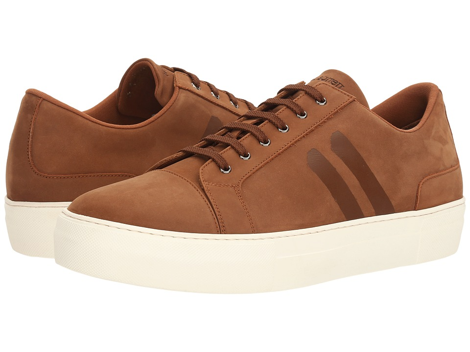 Neil Barrett - Paint Stripe Nubuck Trainer (Tan) Men's Shoes