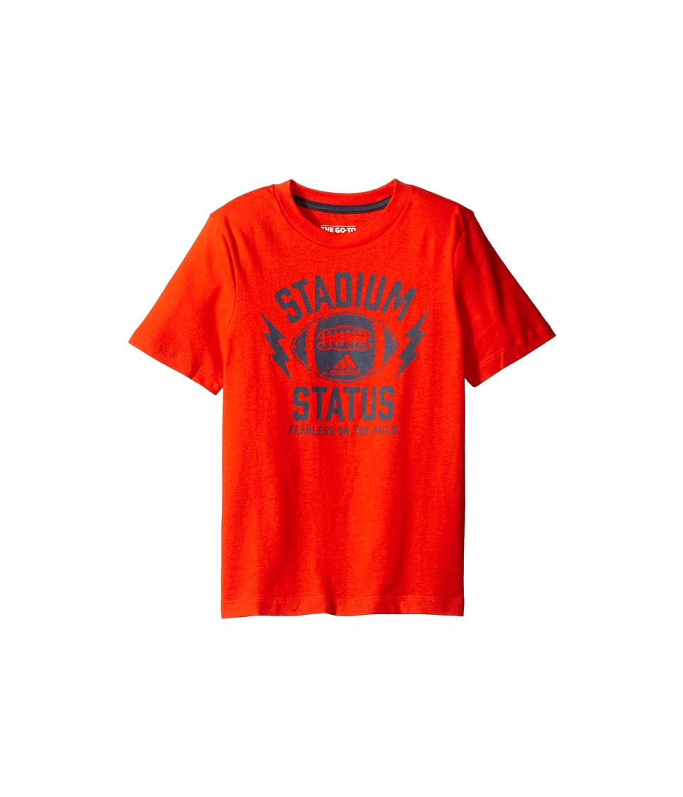 adidas Kids - Stadium Status Tee (Big Kids) (Medium Orange) Boy's T Shirt