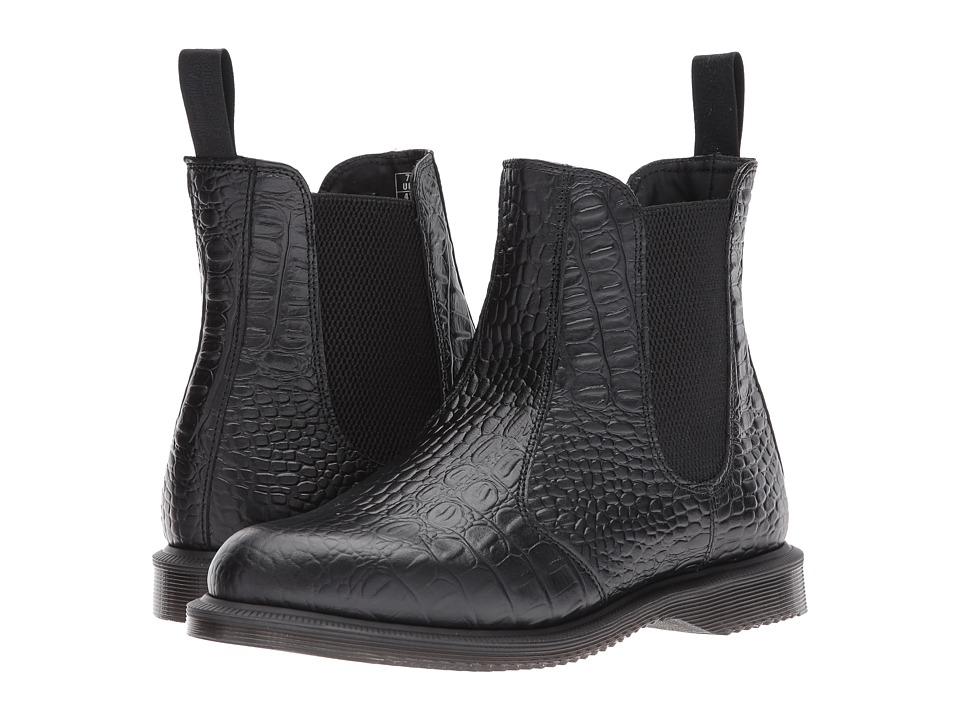 Dr. Martens Flora Chelsea Boot (Black/New Vibrance Croco) Women