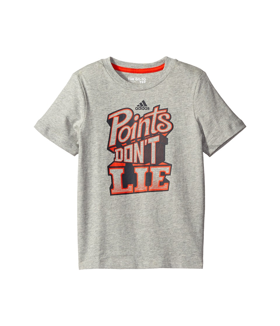 adidas Kids - Points Don't Lie Tee (Toddler/Little Kids) (Grey) Boy's T Shirt
